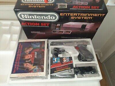 Nintendo NES Action Set Gray Console Original Box NEVER USED ~ MIB