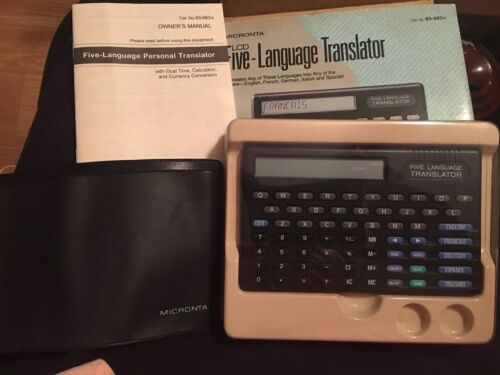 RADIO SHACK MICRONTA FIVE LANGUAGE  TRANSLATOR 63-683A LCD