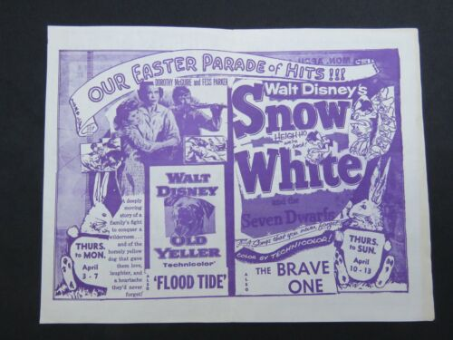 Congress Theatre Movie Promo Flyer 1950