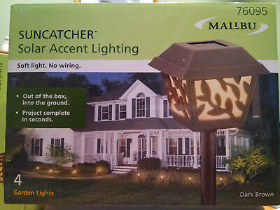 4 NEW Malibu LED Solar Garden Landscape Vine Yard Outdoor Soft Accent Path - Malibu Solar Accent Light