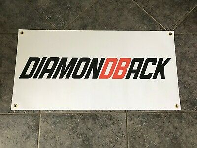 Diamondback banner sign shop wall garage mountain bike BMX cycling downhill