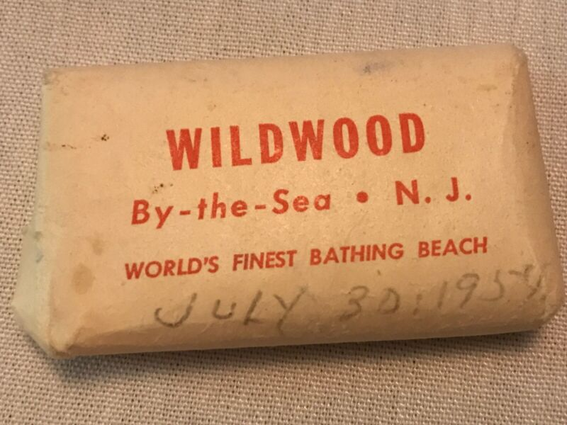 1950's Wildwood By The Sea Vintage Soap Bar, E. Ojserkis, New Jersey