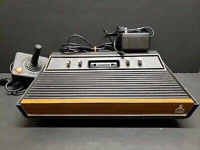 Atari 2600 4 Switch Console with Controller Tested Working