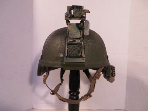 US Army painted camo ACH MICH Large helmet with NV mount, NV arm SDS