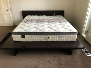 King Size solid wood bed base only in good condition