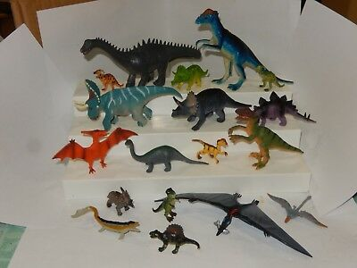 Lot of Plastic & Rubber Toy Dinosaurs - Small & Medium  - Small Dinosaur Toys