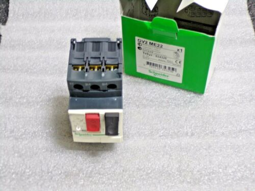 SCHNEIDER ELECTRIC Push Button Manual Motor Starter, No Enclosure, GV2-ME22(JT)