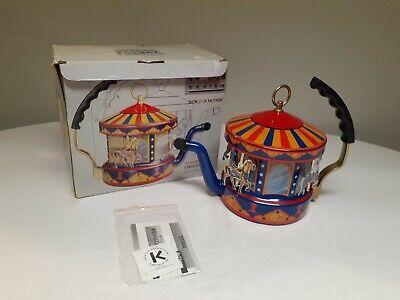 New in box RARE Kamenstein World of Motion MKI steam driven carousel tea kettle