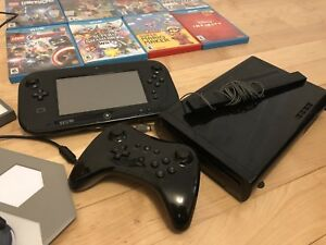 Wii U with 10 games and pro controller