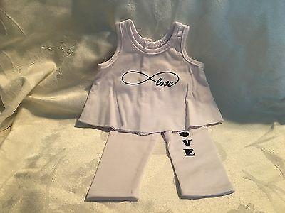 Arianna Doll Clothes-White & Black Love Top and Pants-American Girl/18