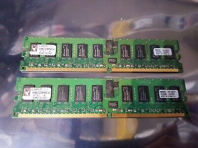 KINGSTON KVR667D2D8P5K2/4GB 2x2GB PC2-5300P 667MHz ECC REGISTERED MEMORY/RAM