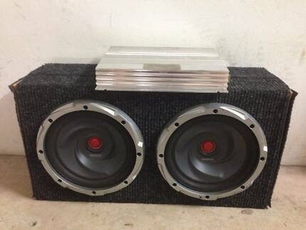 """Dual 12"""" Kenwood Subwoofers with 800W Avantgarde Competition Amp Fannie Bay Darwin City Preview"""