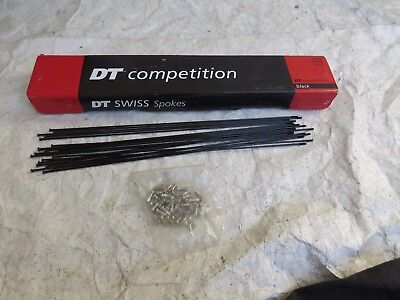 SALE 32 SPOKES 275-308 DT SWISS COMPETITION 2.0-1.8 STRAIGHT PULL BLACK STAINLES