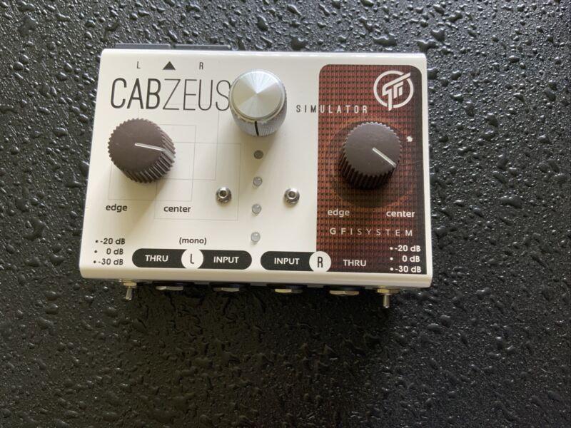 GFI System Cabzeus Stereo Speaker Simulator & DI Box Pedal Cab Sim XLR