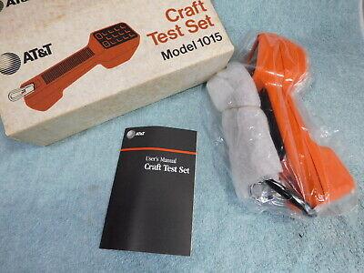 New Att Telephone Phone Craft Test Buttset Model 1015 Tester Lineman Box Tele