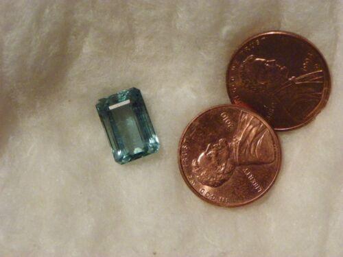 Maxixe Beryl 5.40 Carats Aquamarine 8.74x12.81x6.01 MM Octagon Slight Inclusions