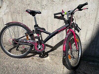 Vélo enfant 8-12 ans noir & rose 24 pouces 6 vitesses