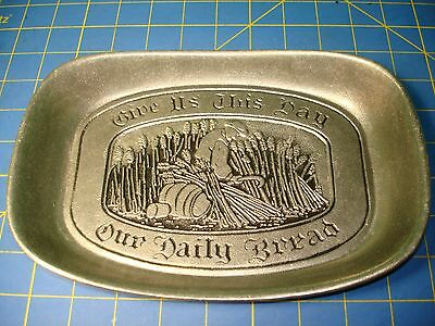 "WILTON ""GIVE US THIS DAY OUR DAILY BREAD"" TRAY EXCELLENT CLEAN  UNUSED CONDITION"