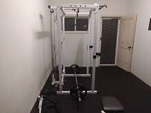 Power Cage + Full Gym Accessories (chest, back, arms, legs) Indooroopilly Brisbane South West Preview