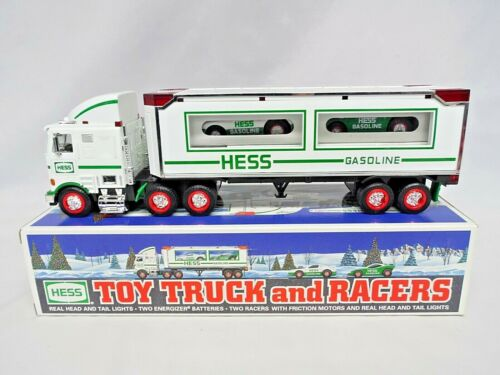 1997 Hess Toy Truck and Racers w/ Friction Motors