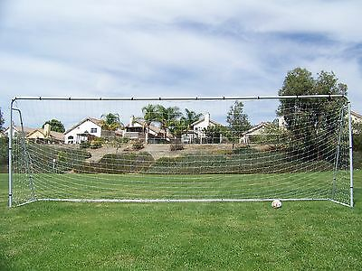 21X 7 Ft. Official Youth Modified Size Steel Soccer Goal. Heavy Duty Frame w/Net