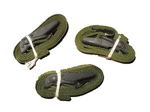 LOT-OF-3-USGI-ARMY-SURPLUS-GREEN-LASHING-ALICE-CARGO-AUTOMOBILE-STRAPS-52-034-NEW