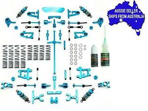 ULTIMATE Blue alloy conversion kit 4 Tamiya TT01 TT-01 D R or E UPGRADED AGAIN