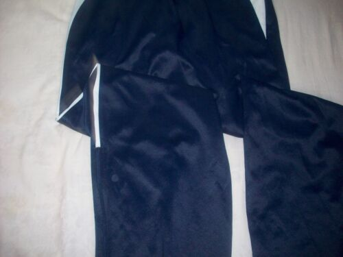 DRI-FIT NAVY BLUE WARM-UPS WITH ANKLE ZIPPERS, SIZE S - EXCELLENT CONDITION
