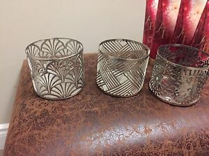 3 bath and body works 3 wick candle holders.  $5 for all three