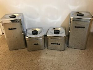 Retro Stainless Steel Canisters