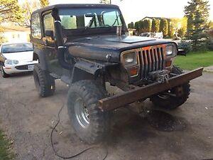 87 Jeep Yj Mud Truck $1500 O.B.O