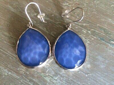IPPOLITA silver 925 Wonderland Teardrop Earrings dangle $595 NEW nordic blue Med