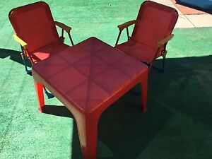 Kids table and  Two little folding chairs Wanniassa Tuggeranong Preview