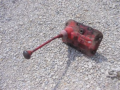 Farmall Ih B Bn Tractor Transmission Cover Gear Shift Forks Rare Steel Knob