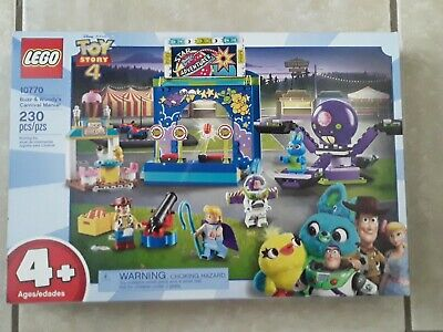 Brand New Free Shipping LEGO Toy Story 4 Buzz & Woody's Carnival Mania Set 10770