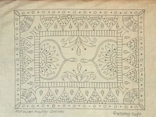 Whimsy Rugs Rug Hooking Pattern - Moroccan Medley - 27.5 x 36 on Monks Cloth
