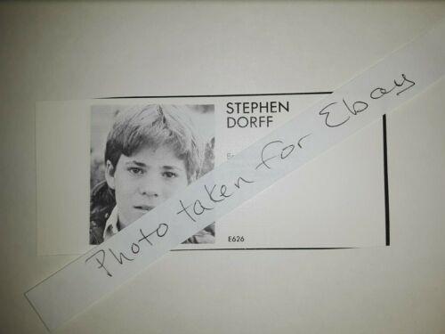 Stephen Dorff Original 1980s actors casting ad