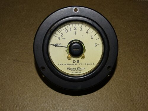 Western Electric Type D-167092 DB Meter for Tube Audio