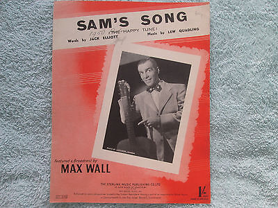 Max Wall SAM'S SONG ( The Happy Tune) Jack Elliott  Lew Quadling  sheet music
