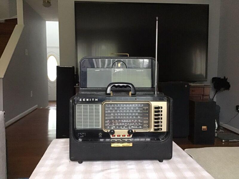 Zenith Trans-Oceanic WAVE MAGNET  Shortwave Tube  Radio.