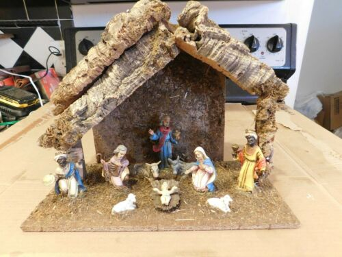 VINTAGE MADE IN ITALY NATIVITY SCENE SET