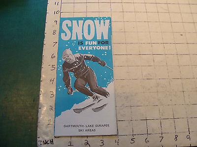 Vintage High Grade SKI brochure: 1971--SNOW IS FUN FOR EVERYONE dartmouth