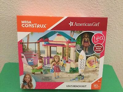 Mega Construx American Girl Leas Beach Hut Building Set Dxw91
