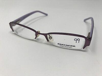 07c20ff9c04 Skechers Eyeglass SK 1006 SPUR 46-15-120 Purple Half Rimless Small Girls  HA96