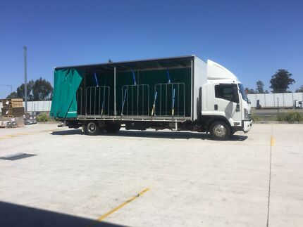 Truck Body For Sale 12 pallet Curtain Sider with Tail Lift