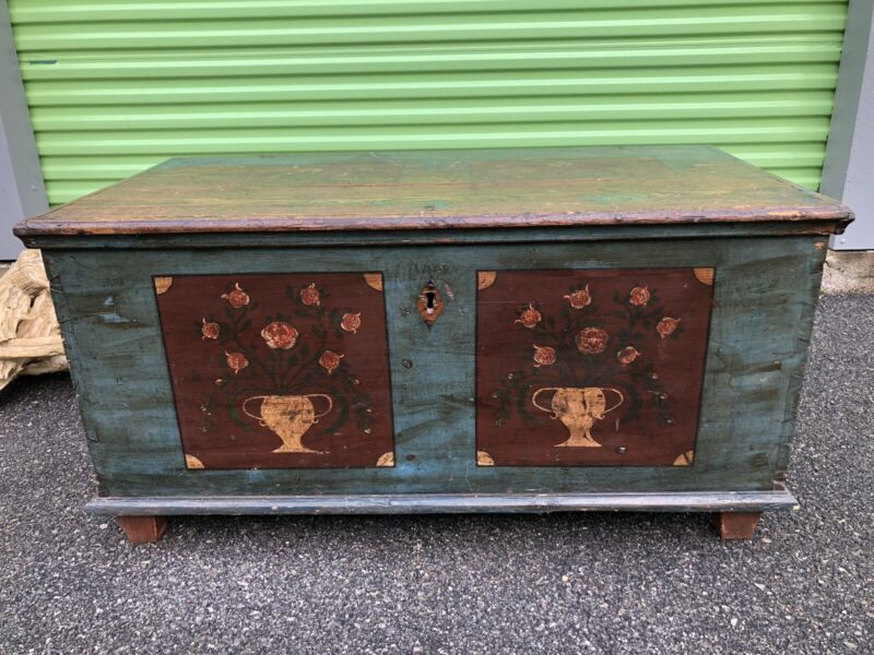 Germanic Dutch Blanket Chest Signed 1878