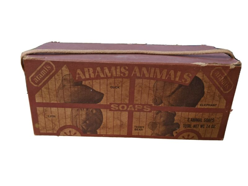 Vintage Aramis Animals Soaps Total Net Wt. 7.4oz New In Box Free Ship