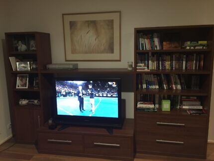 Wall unit including tv