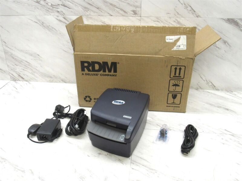 New RDM EC7000i Dual-Sided Check Reader Scanner w/ AC & USB Cable EC7011f