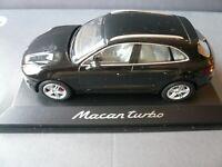 Porsche Macan Turbo Schwarz Ab 2014 1//43 Bburago Modell Auto mit oder ohne ind..